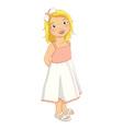 Cute Blonde Girl vector image