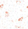 dog seamless christmas pattern vector image