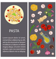 Pasta with ingredients vector image