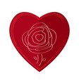 rose on a heart vector image