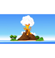 volcanic eruption cartoon vector image