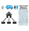 Realty Links Icon with 1000 Medical Business vector image