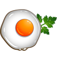 Fried egg vector image vector image