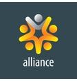 logo alliance vector image vector image