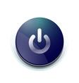 Blue power button design vector image vector image