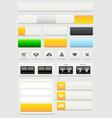 Web design elements set vector image vector image