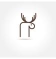 moose icon vector image