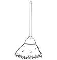Single broom vector image