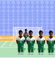 Nigeria Soccer Club Penalty on Stadium vector image