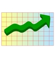 line graph vector image vector image