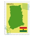 mail to-from Ghana vector image vector image