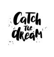 Catch the dream Boho style phrase vector image