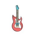 electric guitar musical instrument to play music vector image