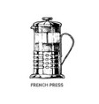 french press vector image