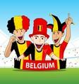 Group of Belgium Sport Fans vector image