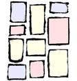 Grunge frames set vector image