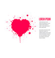 grunge valentines card template vector image