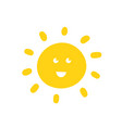 sun hand drawn vector image