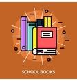 School Books Icon vector image