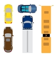 A set of five cars Coupe convertible station vector image