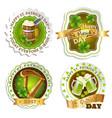 saint patricks day emblems set vector image