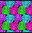 pink monstera seamless pattern vector image