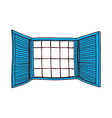 A window is opend vector image