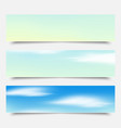 banners headers blue clouds set vector image