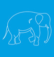 elephant icon outline style vector image