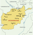 Islamic Republic of Afghanistan - map vector image