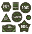 Nature labels vector image