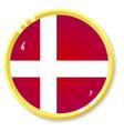 button with flag Denmark vector image vector image