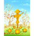 Funny scarecrow vector image