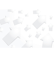 Abstract white paper arrow background vector image