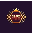 Crowned Poker Club Neon Sign vector image
