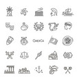 greece line icon set vector image