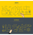 math and science education concept vector image