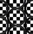 Seamless pattern of crazy bw geometrics vector image