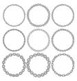Set of 9 decorative circle border frames vector image