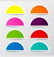 Half Circle Colorful Stickers Set Retro Empty vector image vector image