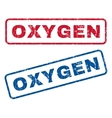 Oxygen Rubber Stamps vector image
