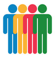 four man sign people icon vector image