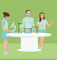 lab research activity team work chemistry vector image