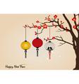 Big traditional chinese lanterns will bring good vector image