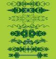 floral pattern bands vector image vector image