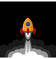 Space Rocket on Black Sky Background vector image vector image