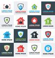 Home Security Logos Set vector image