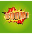 Boom Comic speech bubble vector image