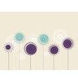 Background with abstract flowers vector image vector image