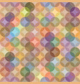 abstract seamless pattern with circular ornament vector image